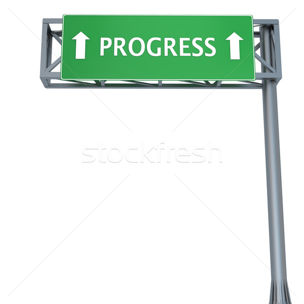 Progress sign Stock photo © Harlekino