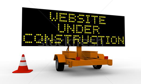 сайт строительство корзины знак информации ремонта Сток-фото © Harlekino