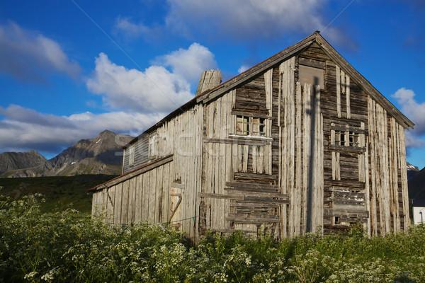 Old wooden house Stock photo © Harlekino
