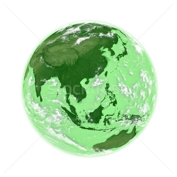 Southeast Asia on green Earth Stock photo © Harlekino