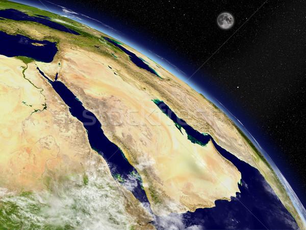 Arabian peninsula from space Stock photo © Harlekino