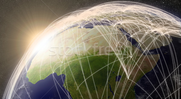 Network over North Africa Stock photo © Harlekino