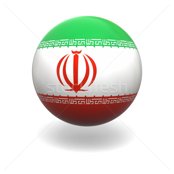 Iranian flag Stock photo © Harlekino