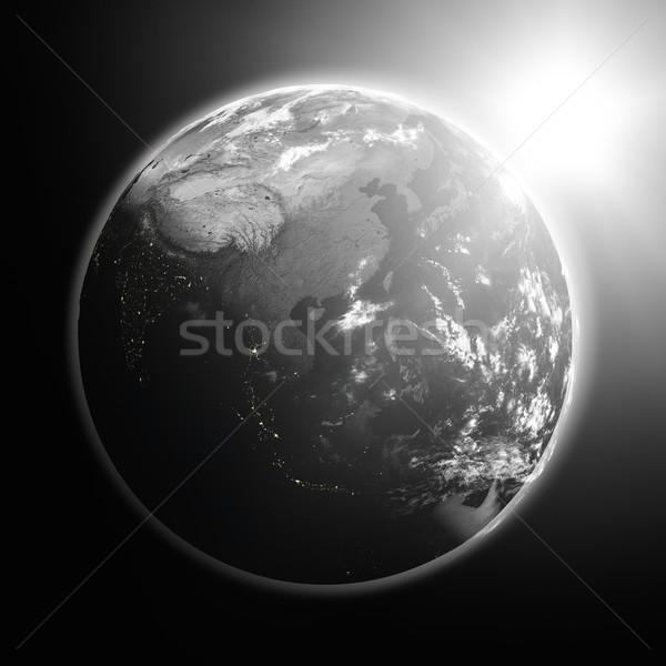 Gündoğumu güneydoğu asya uzay görmek güneş Stok fotoğraf © Harlekino