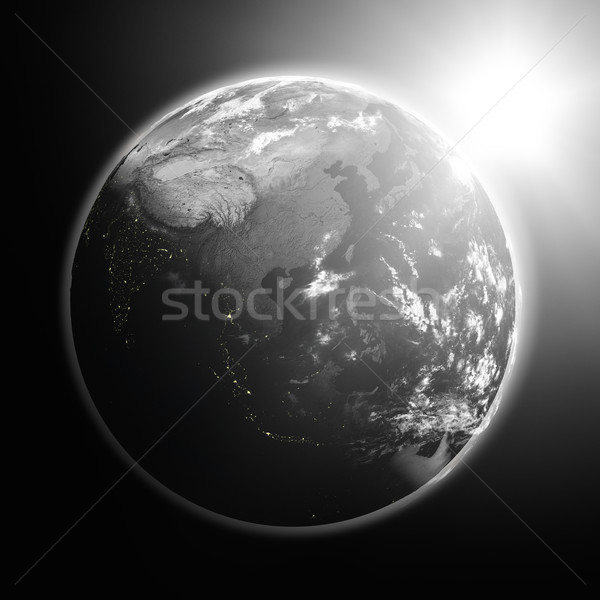 Sunrise over southeast Asia Stock photo © Harlekino