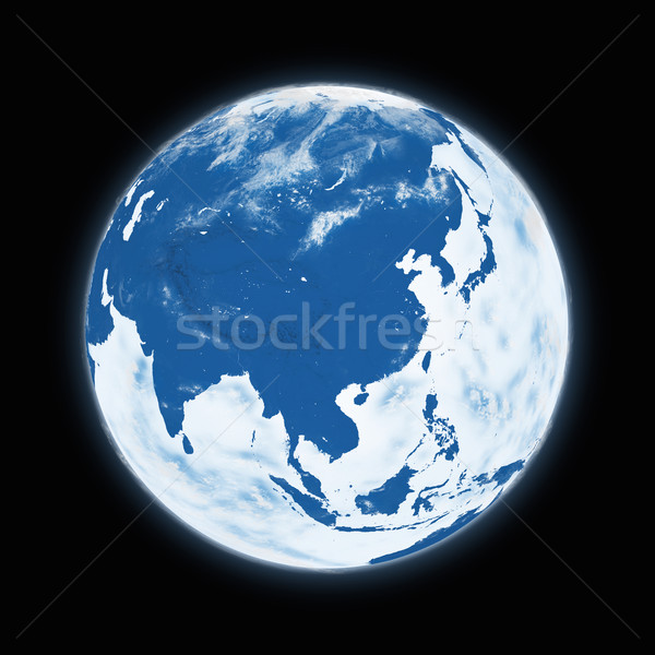 Stock photo: Southeast Asia on planet Earth