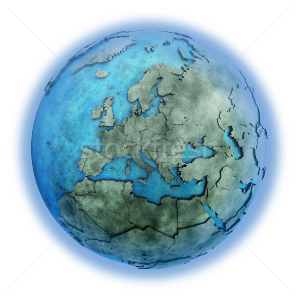 Europa marmer aarde 3D model Blauw Stockfoto © Harlekino