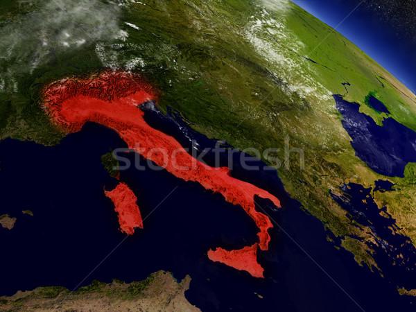 Itália espaço vermelho ilustração 3d Foto stock © Harlekino