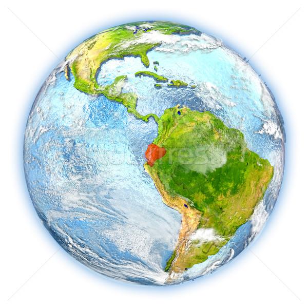 Эквадор земле изолированный красный планете Земля 3d иллюстрации Сток-фото © Harlekino