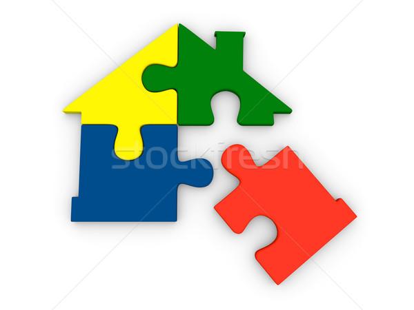 дома символ частей четыре красочный Сток-фото © Harlekino