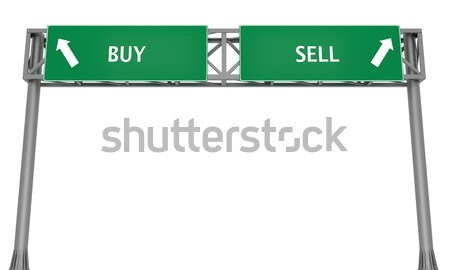 Blank highway signboard Stock photo © Harlekino