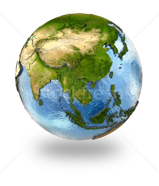 Sud-est asiatico terra dettagliato pianeta terra continenti Foto d'archivio © Harlekino