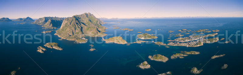 Lofoten Henningsvaer Stock photo © Harlekino