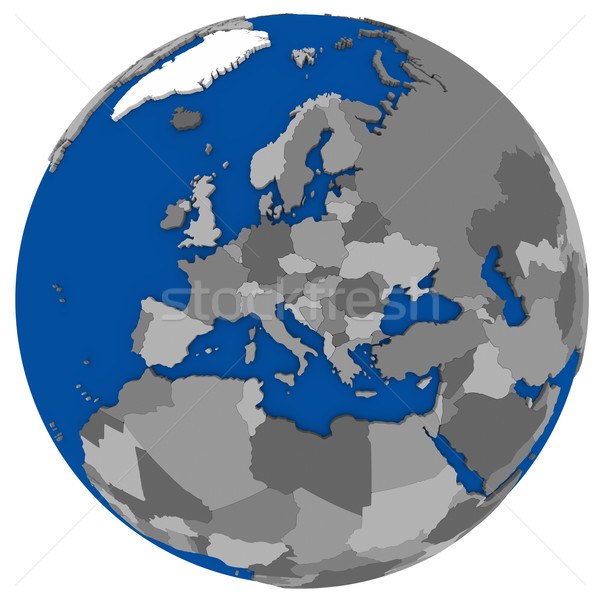 Europe on Earth political map Stock photo © Harlekino