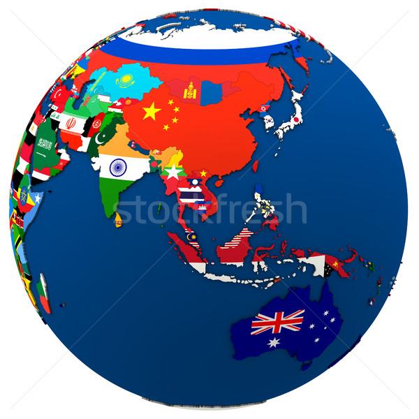 Political Asia and Australia map Stock photo © Harlekino