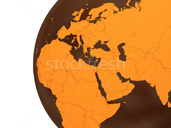 Middle East on chocolate Earth Stock photo © Harlekino