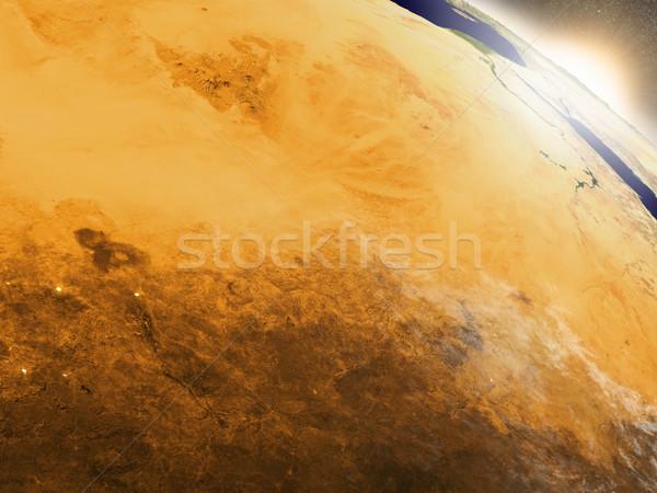 日の出 チャド 地域 軌道 スペース 3次元の図 ストックフォト © Harlekino