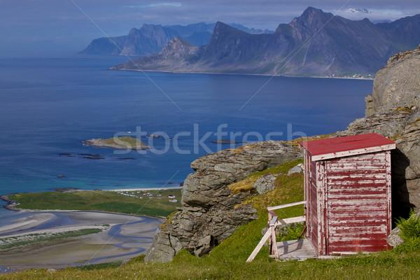 Norwegian panorama on Lofoten Stock photo © Harlekino