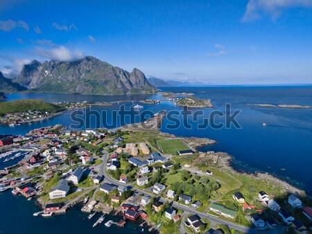 Сток-фото: живописный · рыбалки · города · Норвегия