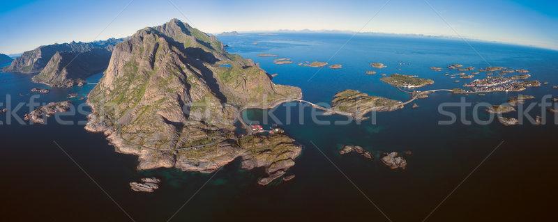 Mozzafiato pesca città Norvegia Foto d'archivio © Harlekino