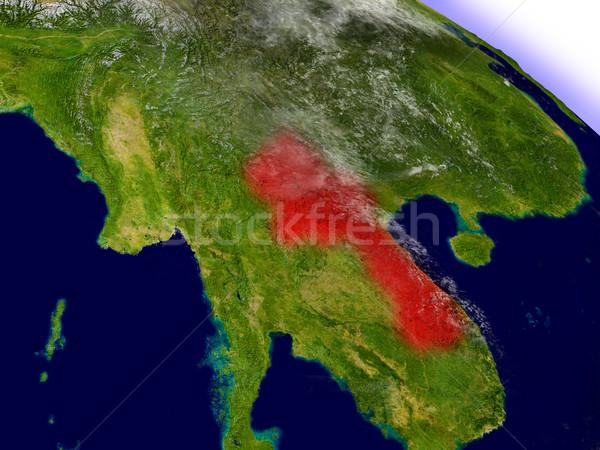 Laos ruimte Rood 3d illustration Stockfoto © Harlekino