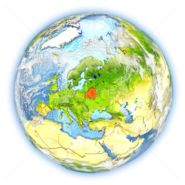 Stock photo: Belarus on Earth isolated