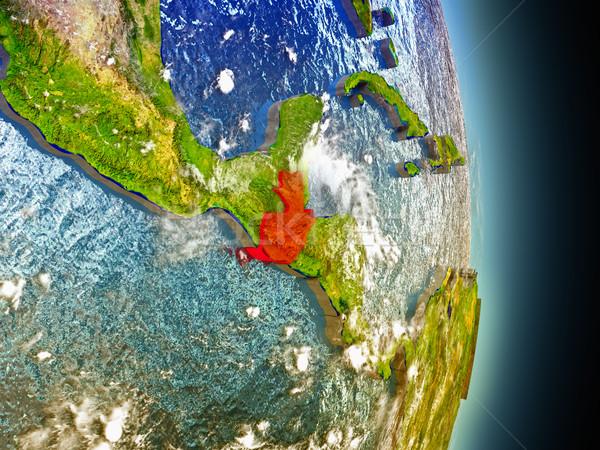 Guatemala in red from space Stock photo © Harlekino