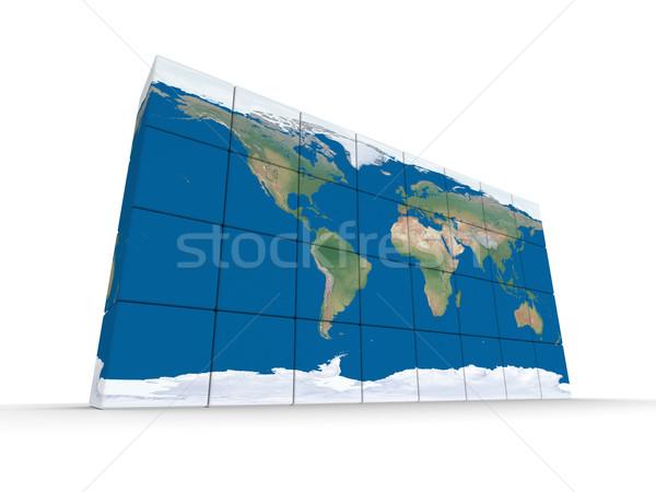 World map made of blocks Stock photo © Harlekino