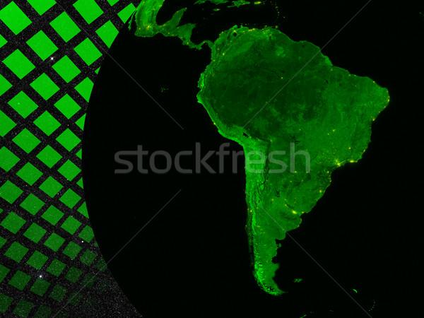 Южной Америке технологий Элементы изображение облака темно Сток-фото © Harlekino