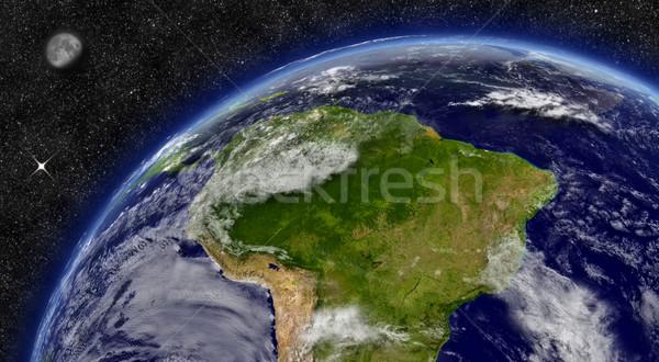 Южной Америке планете Земля регион пространстве луна звезды Сток-фото © Harlekino