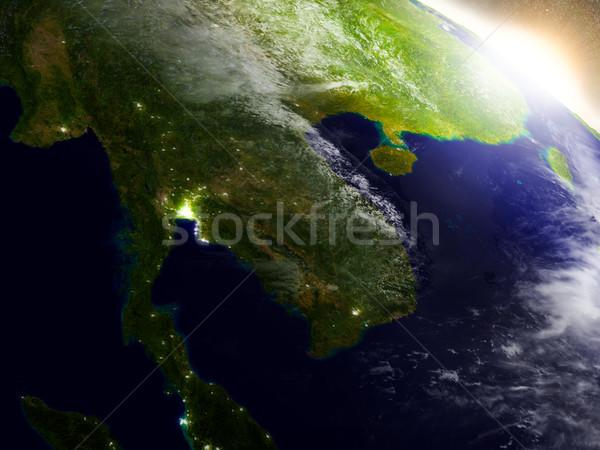 Tailândia espaço nascer do sol região ilustração 3d Foto stock © Harlekino