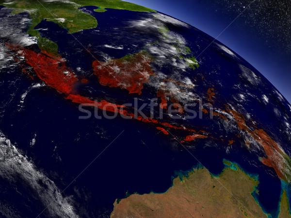 Indonésie espace rouge 3d illustration Photo stock © Harlekino