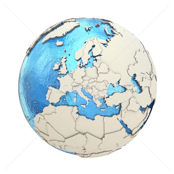 Европа модель планете Земля 3D синий земле Сток-фото © Harlekino