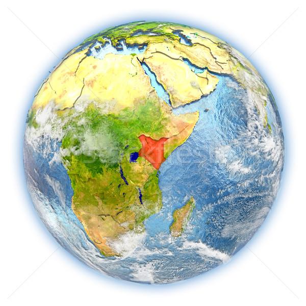 Kenya Föld izolált piros Föld 3d illusztráció Stock fotó © Harlekino