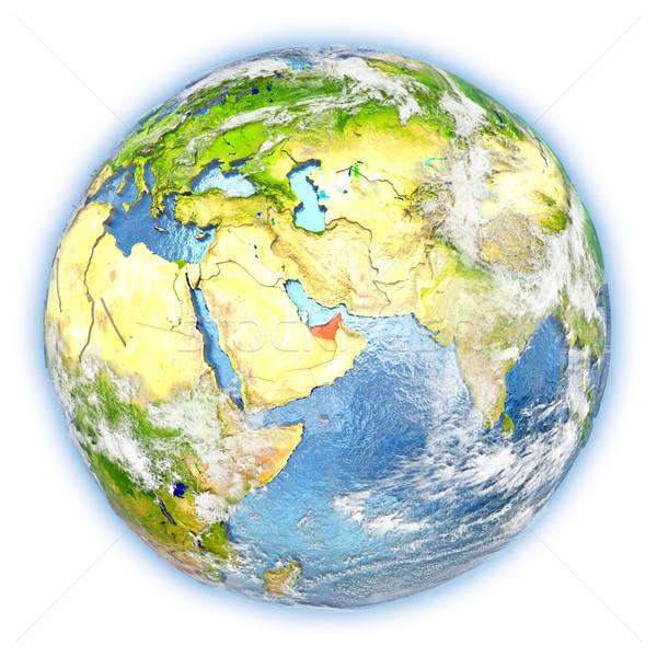 United Arab Emirates on Earth isolated Stock photo © Harlekino