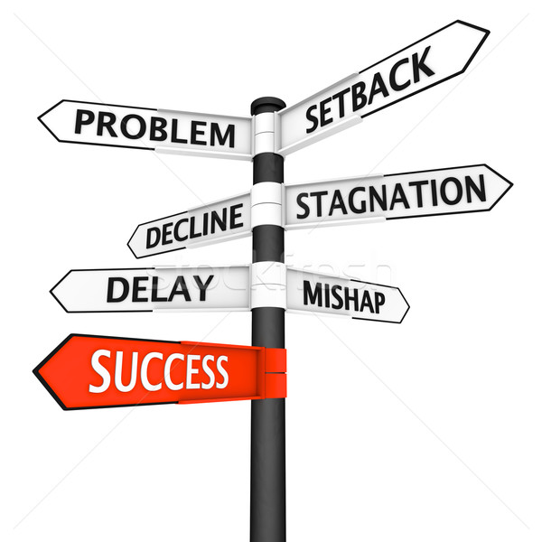 Crossroads sign with direction to success Stock photo © Harlekino