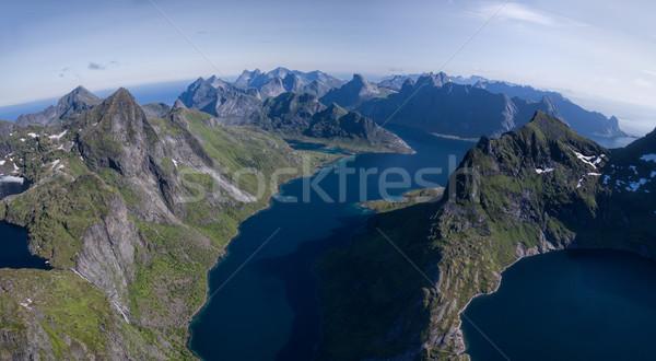 Сток-фото: антенна · красивой · Норвегия · пейзаж