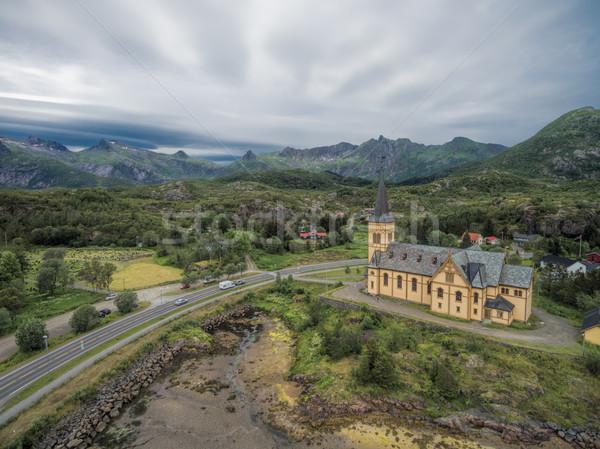 Сток-фото: Церкви · собора · Норвегия · дороги · путешествия