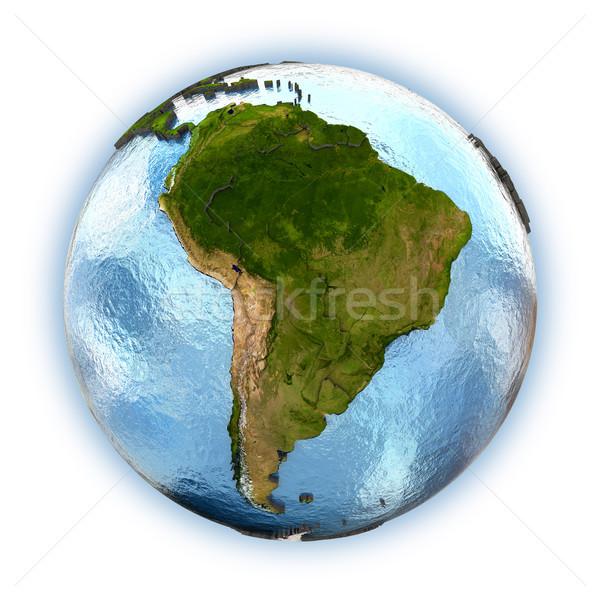 América del sur planeta tierra continentes país aislado Foto stock © Harlekino
