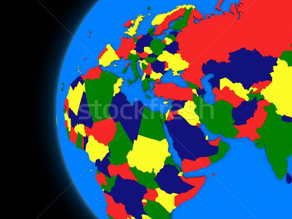 Região político terra ilustração globo preto Foto stock © Harlekino