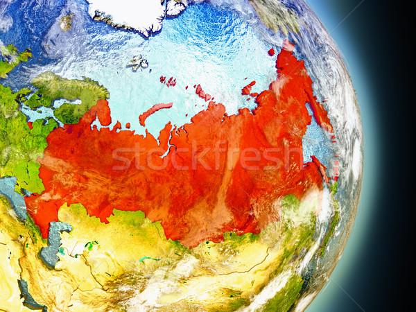 Russia in red from space Stock photo © Harlekino