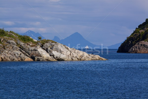 Norweski morza charakter krajobraz Europie Zdjęcia stock © Harlekino
