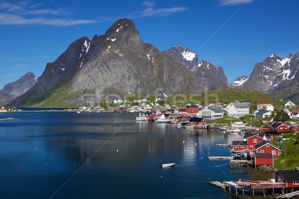 Town of Reine on Lofoten Stock photo © Harlekino