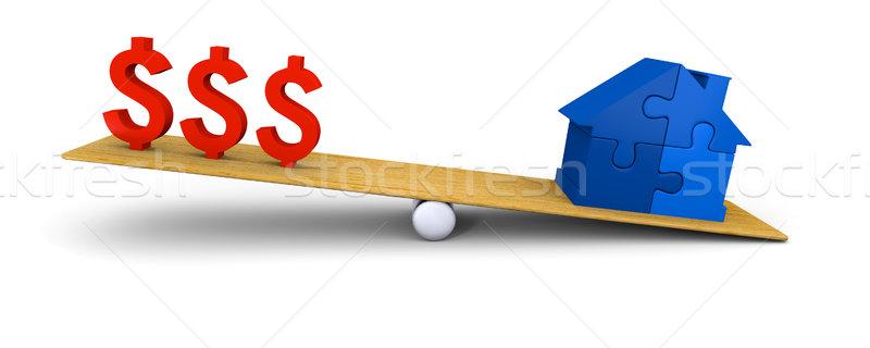 House heavier than dollars Stock photo © Harlekino