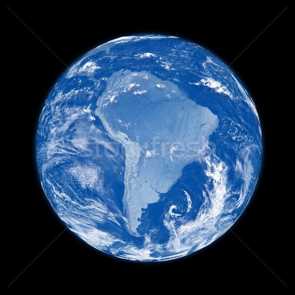 South America on blue Earth Stock photo © Harlekino