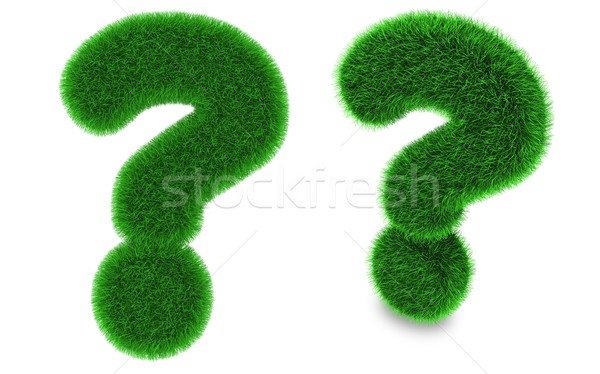 Question mark made of grass Stock photo © Harlekino