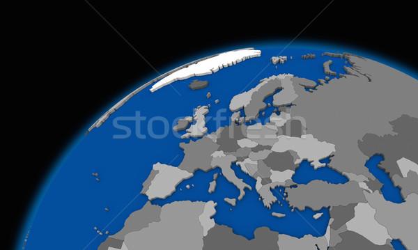 ヨーロッパ 地球 政治的 地図 世界中 旅行 ストックフォト © Harlekino