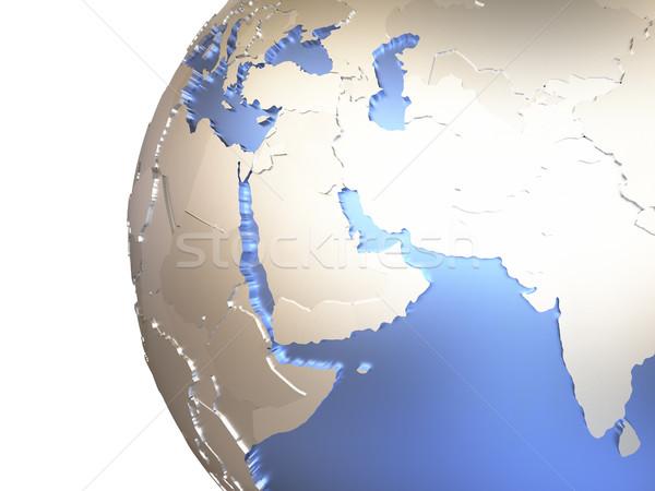 Midden oosten metalen aarde regio model aarde Stockfoto © Harlekino