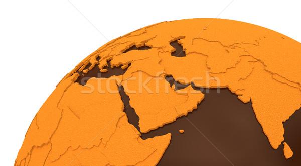 Middle East on chocolate Earth Stock photo © Harlekino