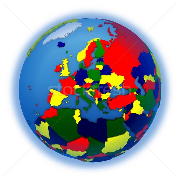 Europe on political model of Earth Stock photo © Harlekino